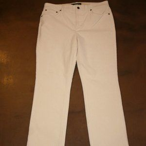 LAUREN JEANS CO Cream 12 P Stretch 33x29 Corduroy